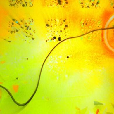 Kidd   Glass panel, detail of swirl