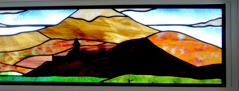 Stained glass | Mount Ararat detail, by Melanie Kidd