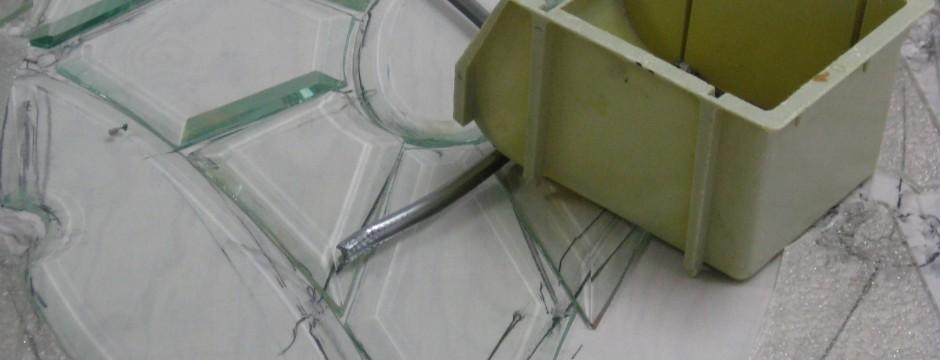 Stained glass | Restoration bevel detail, by Melanie Kidd