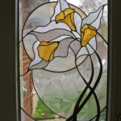 Stained glass | Door panel detail, by Melanie Kidd
