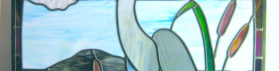 Stained glass | Heron panel, by Melanie Kidd